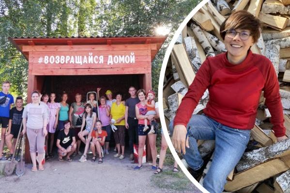 Галина Никулина и другие жители Пежмы начали работать над чудо-остановкой, а затем замахнулись на целый молодежный центр