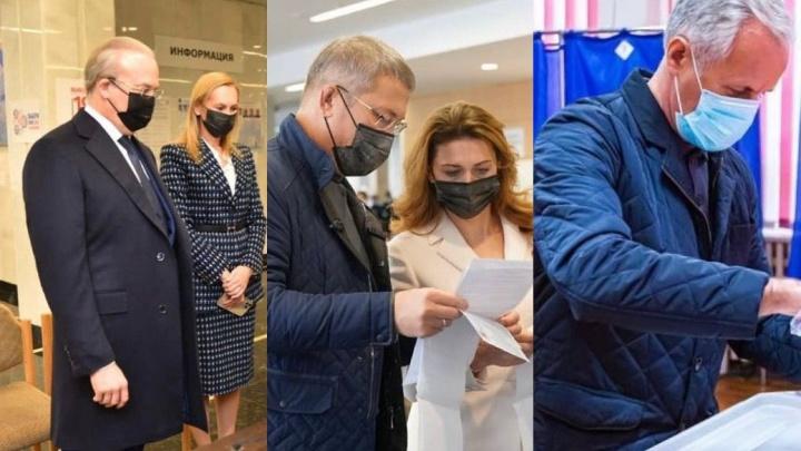 Хабиров и Назаров — с женами, Греков — один: как голосовали видные политики Башкирии
