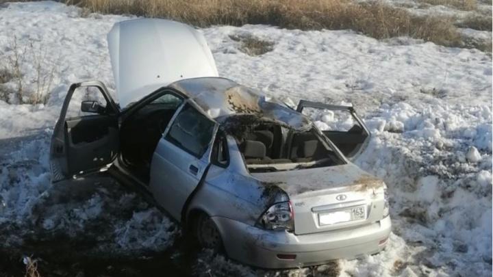 В Самарской области пьяный водитель Daewoo выбил страссы LadaPriora