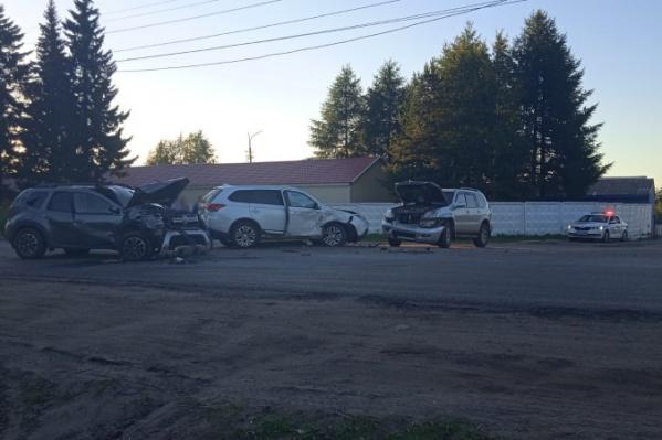 В аварию попали опытные водители