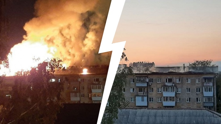 Крыша обрушилась, два человека погибли. Главное об адском пожаре в пятиэтажке в центре Екатеринбурга