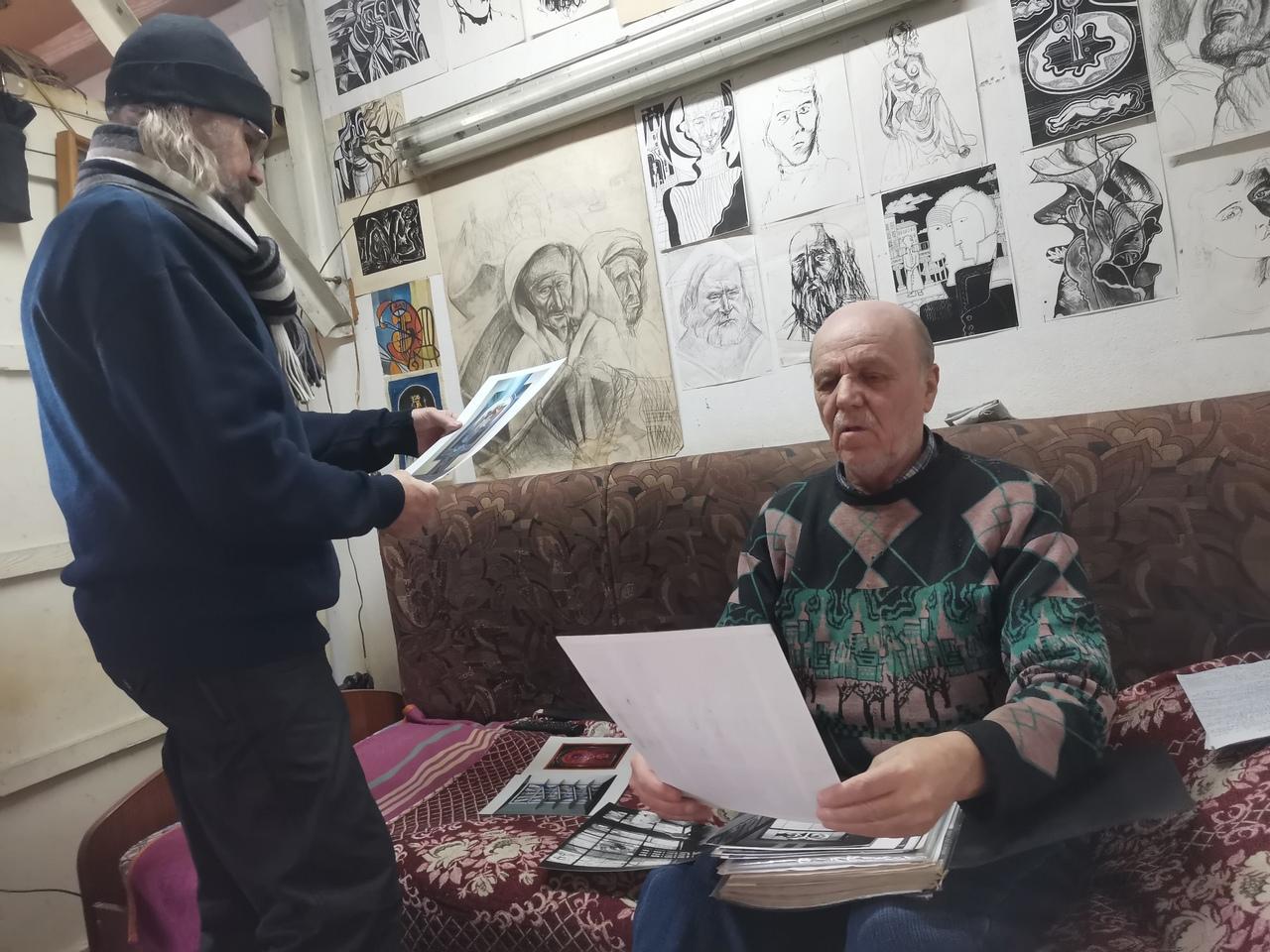 В мастерской Сергея Одинцова