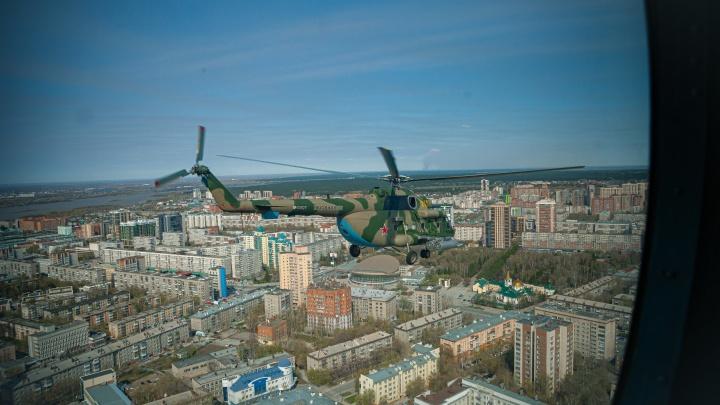 Слишком близко: 20 кадров, каким видят Новосибирск пилоты военных вертолетов (НГС побывал на борту)