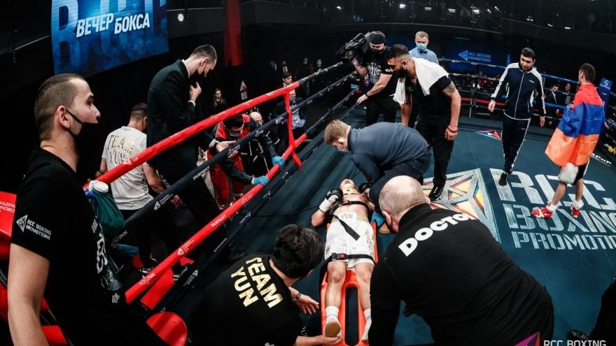 Два нокдауна и перелом ноги: Дмитрий Юн проиграл Жоре Амазаряну на турнире по боксу в Екатеринбурге