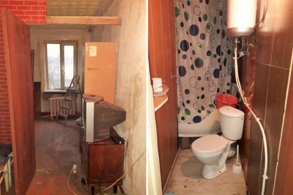 Комната стоит дешево, но придется мириться, что туалет в квартире общий