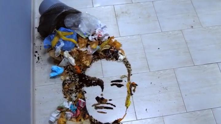 Пользователи сети захейтили уфимскую художницу, которая «нарисовала» портрет Моргенштерна мусором