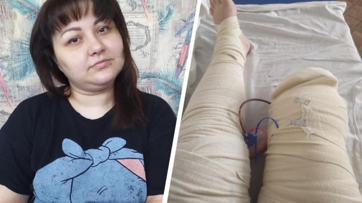 В Челябинске мать-одиночка, потерявшая ногу, пытается взыскать с медиков 5 млн за халатное лечение