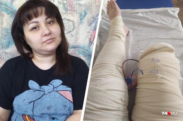 32-летняя Надежда Корчагина винит челябинских врачей в том, что стала инвалидом
