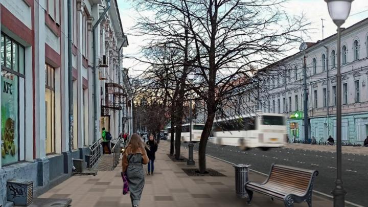 На Комсомольской улице уберут заборы и поставят скамейки. Смотрим проект