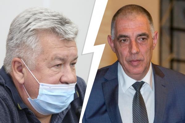 Андрей Важенин (слева) приступит к обязанностям после майских праздников. Он сменит на посту руководителя ЮУГМУ Илью Волчегорского, который был ректором пять лет