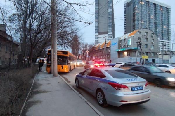 В автобусе находилось 20 человек