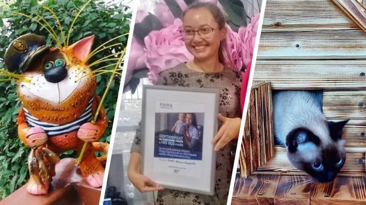 Котики из глины и будки-избушки: как бизнес-мама в Самарской области раскрутила гончарную мастерскую