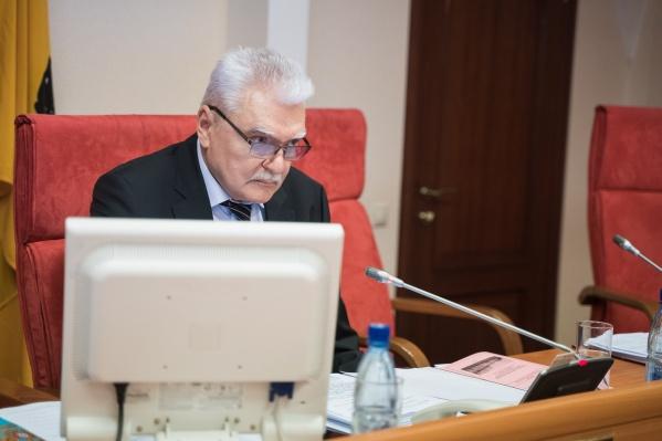 Николай Александрычев руководит фракцией «Единая Россия» в облдуме