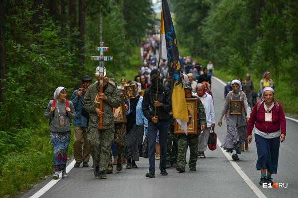 В религиозном шествии приняли участие тысячи верующих