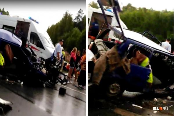 Авария произошла на трассе около поселка Дружинино в сторону Екатеринбурга