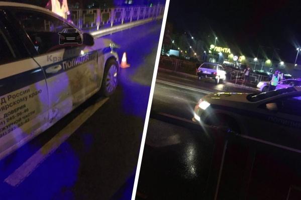Водитель уходил от погони и протаранил машину полицейских