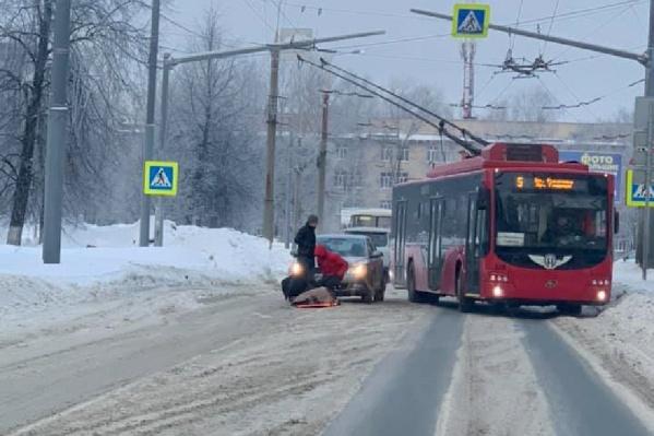 """ДТП произошло возле дома <nobr class=""""_"""">№ 11</nobr> на улице Гагарина"""