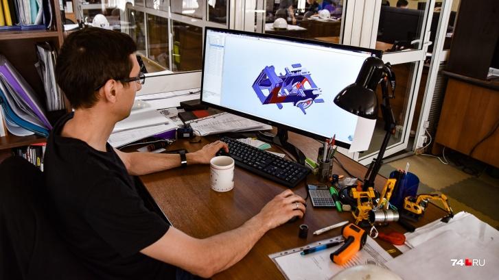"""Проектирование, естественно, идет в <nobr class=""""_"""">3D-среде</nobr>. На экране — рама трактора"""