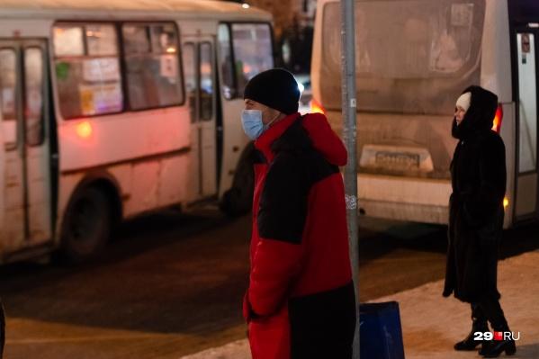 """Жители Исакогорки попросили, чтобы первый рейс автобуса <nobr class=""""_"""">№ 33</nobr> был пораньше"""