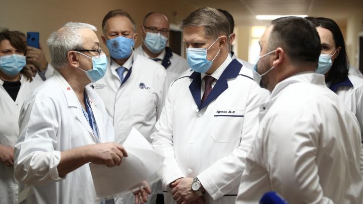 «Снижение на протяжении последних недель»: глава Минздрава РФ приехал в Новосибирск— что он рассказал о ковиде