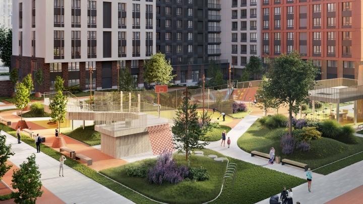 9500 квадратных метров для игр, спорта и отдыха: в Уфе реализуют жилой комплекс с уникальным благоустройством