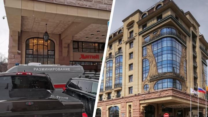 Возле пятизвездочного отеля «Марриотт» в Новосибирске появилась машина разминирования