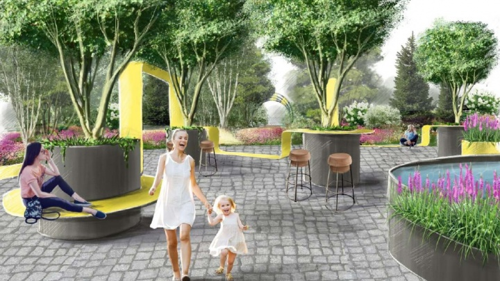 На площади 1905 года появятся цветник, водоем и деревянный мостик: каким будет фестиваль «Атмосфера»