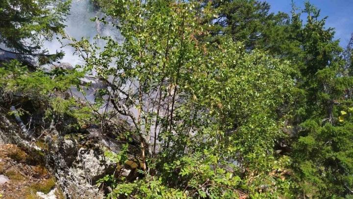 В национальном парке «Таганай» загорелся лес
