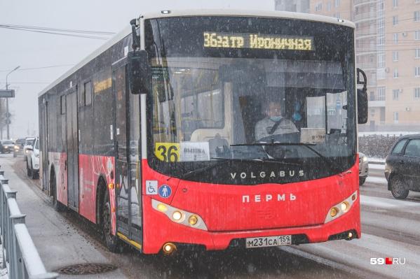 Автобус 36 на время ремонта трамвайных путей сменил маршрут