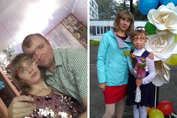 Тела родителей нашла их дочь (на фото справа)