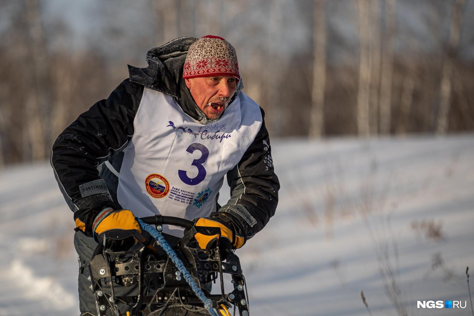 Несмотря на сибирские морозы все спортсмены дошли до финиша
