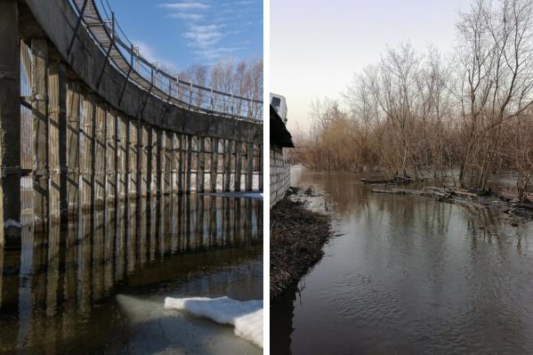 В сентябре прошлого года на дамбе реки Тулы закончился капитальный ремонт. Дамба сдерживает талые воды