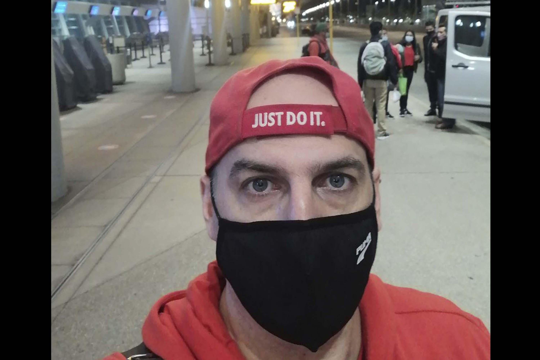 Георгий в аэропорту Сан-Диего