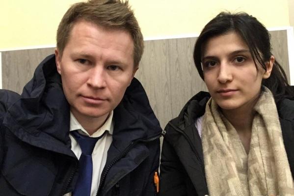 Адвокату Фёдору Акчермышеву и его подзащитной Милане пришлось прятаться в отделе полиции