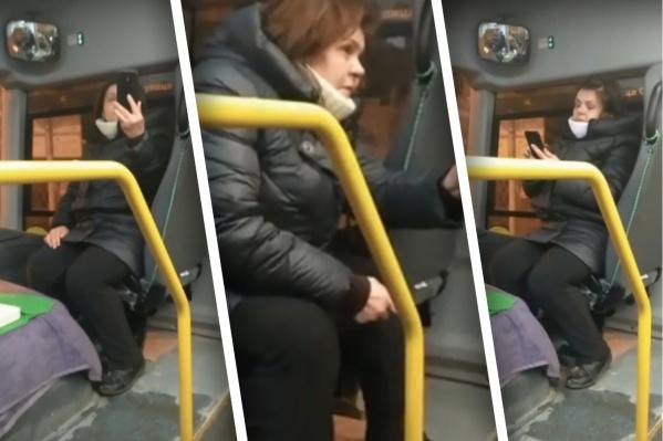 За хамское поведение в автобусе полицейские привлекут женщину к ответственности