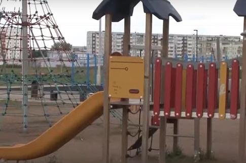 Ребенок пострадал по время катания на горке в Шарыпово