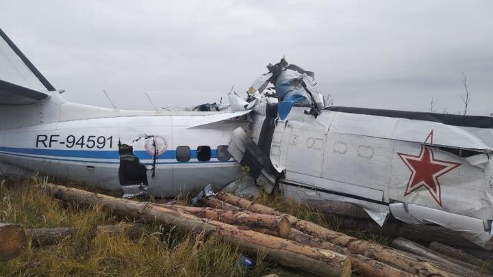 В Татарстане упал самолет с парашютистами на борту
