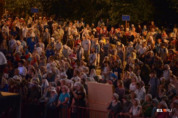 В прошлом году крестным ходом прошли около 10 тысяч человек
