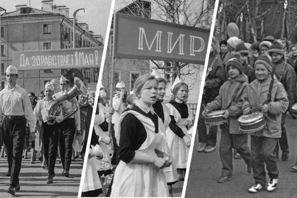 Как северодвинцы выходили за мир и весну на главные улицы города — в нашем историческом фоторепортаже