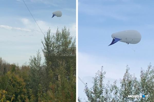 Конструкцию видели и раньше в небе над Красноярском — во время Универсиады