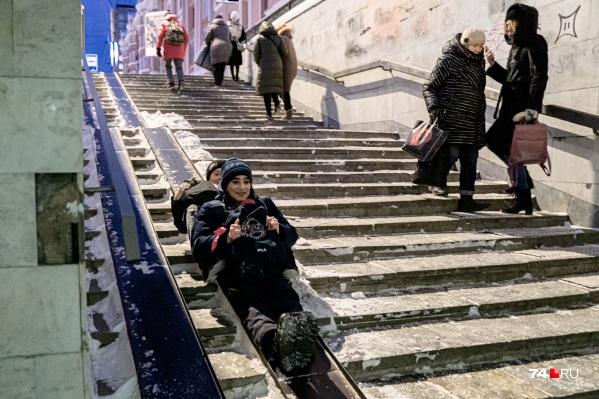 """Наступившее после аномальных морозов резкое потепление в Челябинске как минимум поднимает настроение. Но <nobr class=""""_"""">может —</nobr> и давление"""