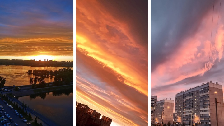 Невероятно красивый закат восхитил красноярцев