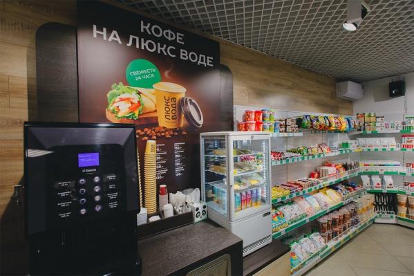 В «Люкс Воде» теперь можно купить горячий кофе, свежее буррито и много другой еды для быстрого перекуса