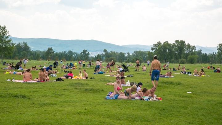 Красноярцев ждут жаркие выходные с последующим резким похолоданием