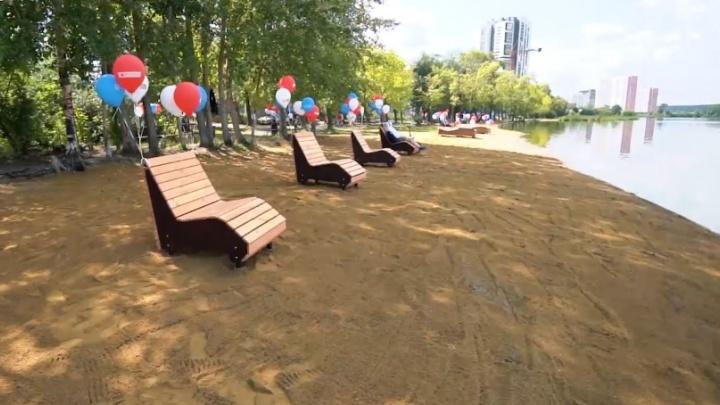 Посмотреть пришел даже вице-мэр: армия «Сима-ленда» облагородила пляж на берегу визовского пруда