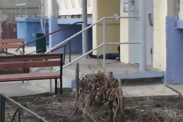 Видео с места преступления обнародовали жители, шокированные преступлением