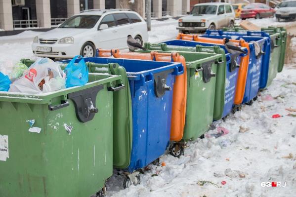 На контейнерных площадках в ближайшее время могут установить баки под каждый тип отходов