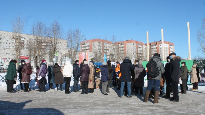 На двух северодвинцев, выступающих против застройки «Квартала 100», составили протоколы