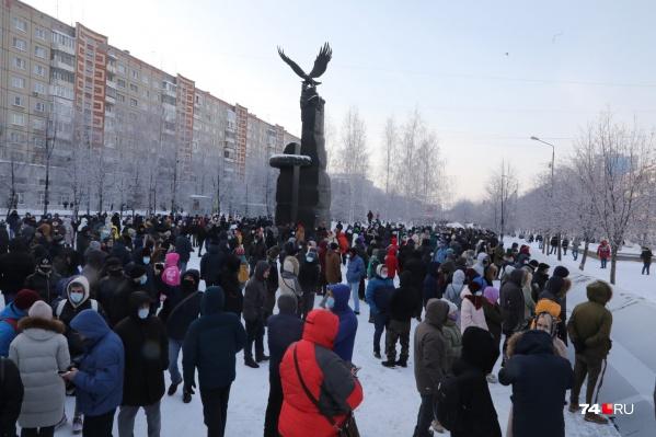 Акция стартовала на бульваре Славы в 14 часов