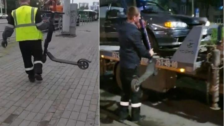 На штрафстоянку скопом: ГИБДД Челябинска начала массовую эвакуацию фиолетовых самокатов